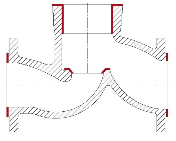 обрабатываемые поверхности unigrind HTS