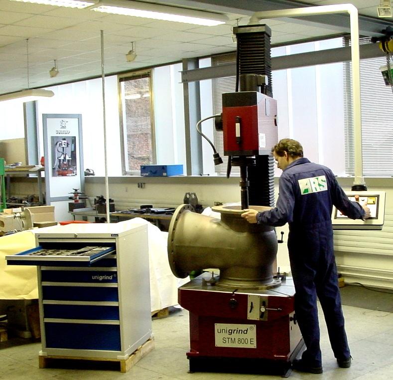 обработка корпуса задвижки на unigrind STM 800E